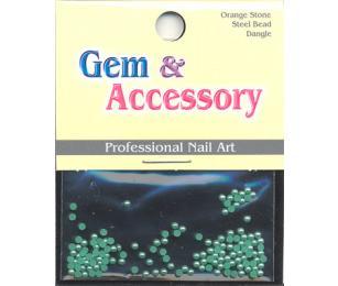 Zdobící kamínky, tvar perly, barva tmavě zelená