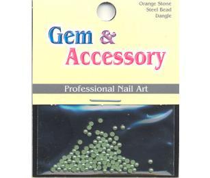 Zdobící kamínky, tvar perly, barva zelená