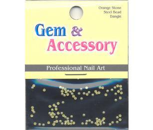 Zdobící kamínky, tvar perly, barva žlutá