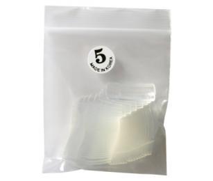 Nehtové tipy transparentní velikost 5