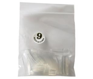 Nehtové tipy transparentní velikost 9
