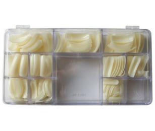 Nehtové tipy zahnuté BOX 500 ks