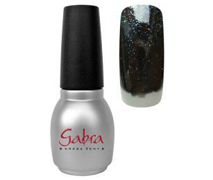 GABRA All in One UV, LED Gel lak č. 20 - Černá multi glitter
